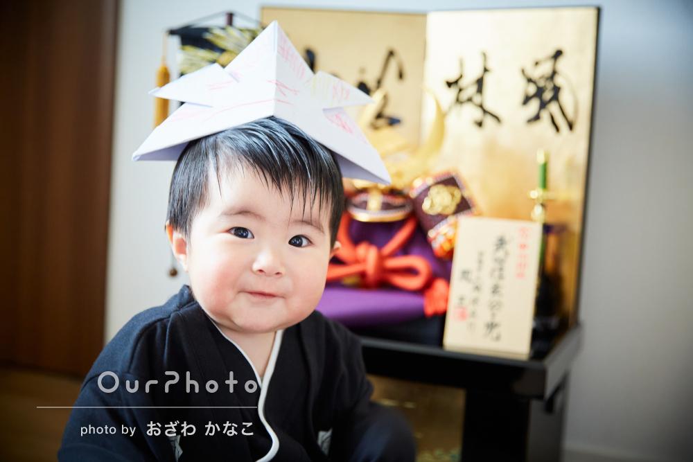 「子供達が楽しくなるように色々工夫」節句祝いも兼ねて家族写真の撮影
