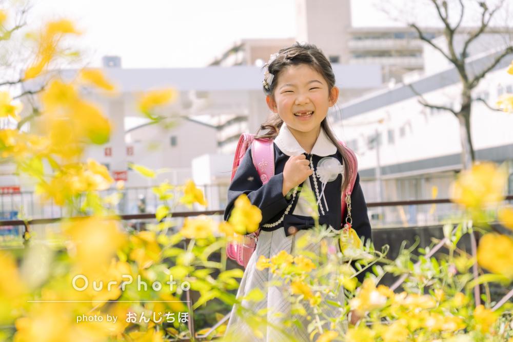 「思い出に残る1日となりました」入学式当日に小学校入学記念写真の撮影
