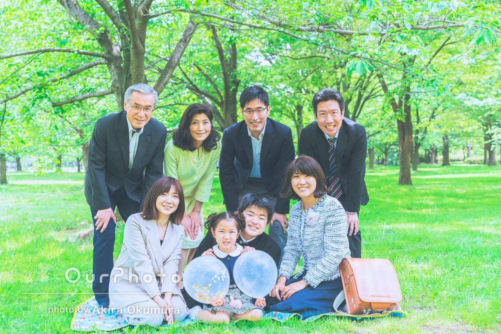 「親族でステキな写真を撮っていただき本当に嬉しかった」家族写真の撮影