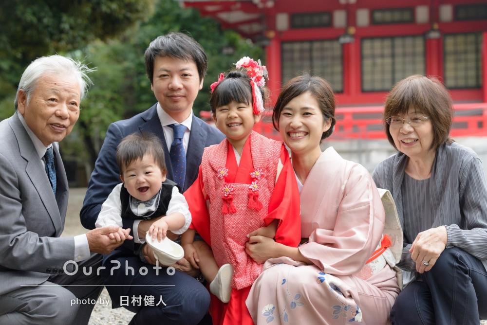 「娘も楽しかったようです」家族みんなが笑顔の七五三撮影