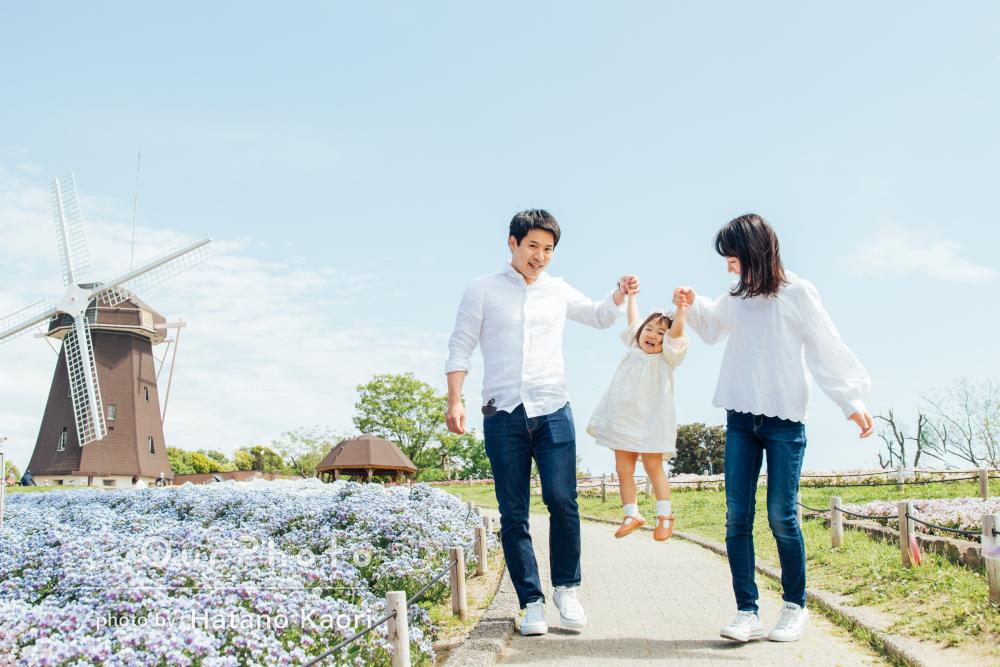 「自然な娘の笑顔、出来上がりの写真を見て感動しました」家族写真の撮影