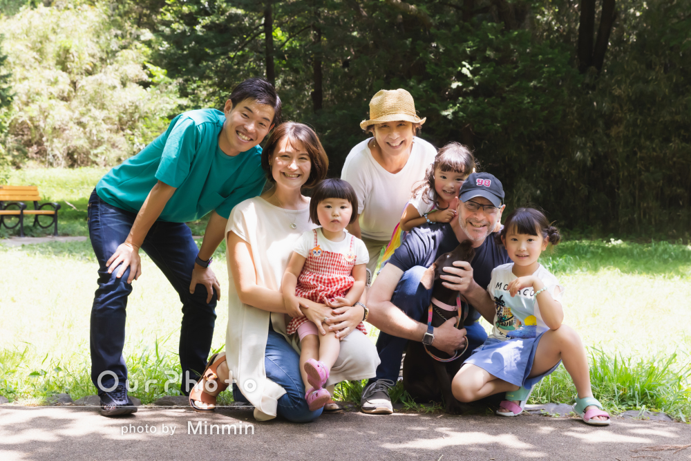 「自然体でいられたとても楽しい撮影でした」元気いっぱい家族写真の撮影