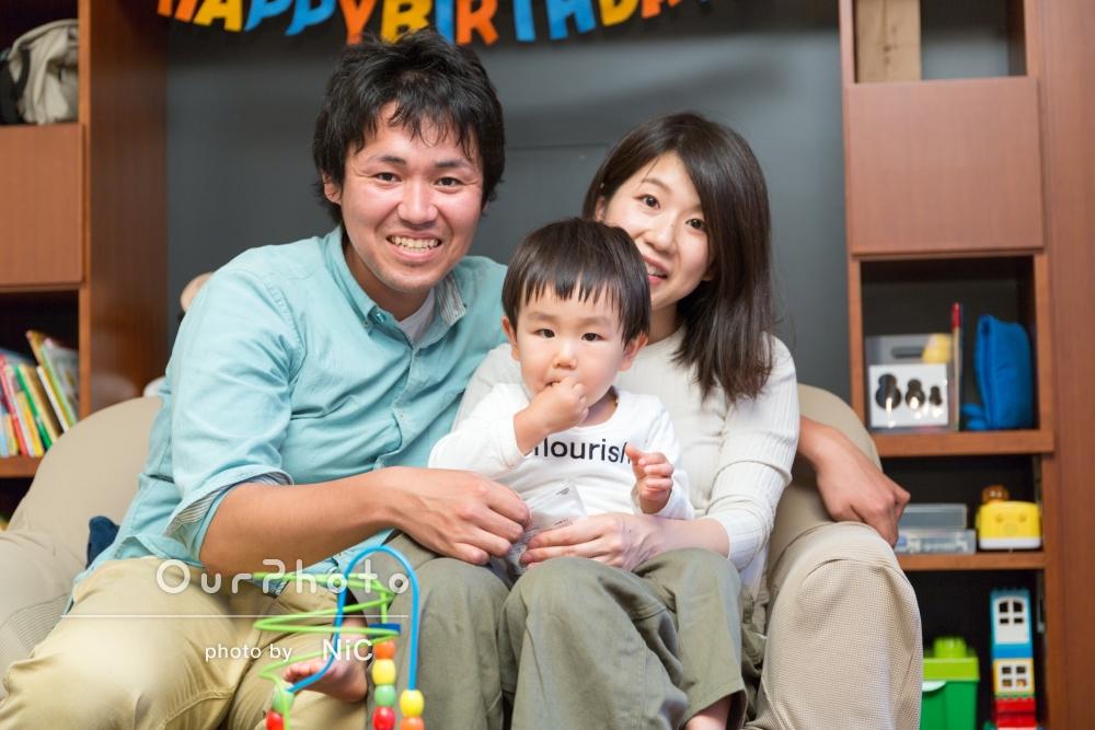 「気長にお付き合い、いい写真に」ご自宅でお誕生日フォトの撮影