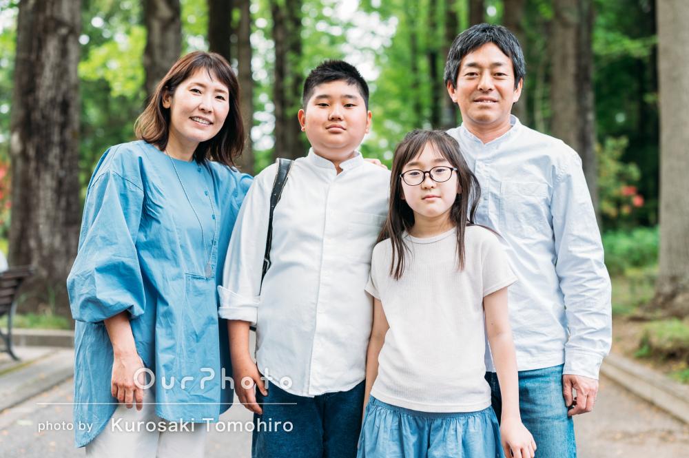 「自然とリラックスしたよい写真をたくさん」卒業記念の家族写真撮影