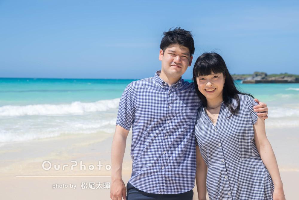 「撮影ポイントもとても綺麗で満足」沖縄でカップルの旅行写真の撮影