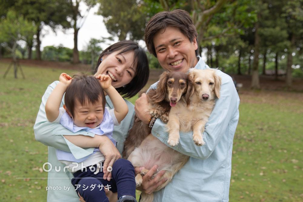 「毎回家族全員満足しています」1歳の誕生日の記念に家族写真の撮影