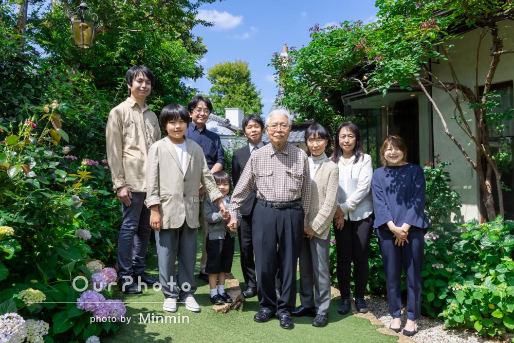 「思い切ってプロの方にお願いして本当に良かった」卒寿に家族写真の撮影