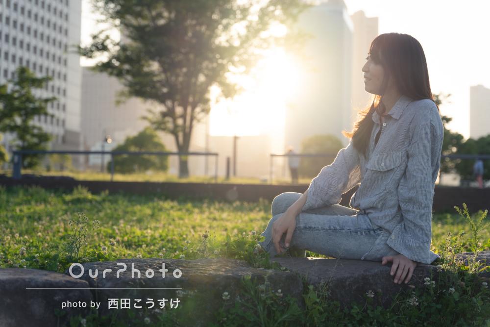 「良いプロフィール用写真ができました」女性のプロフィール写真の撮影