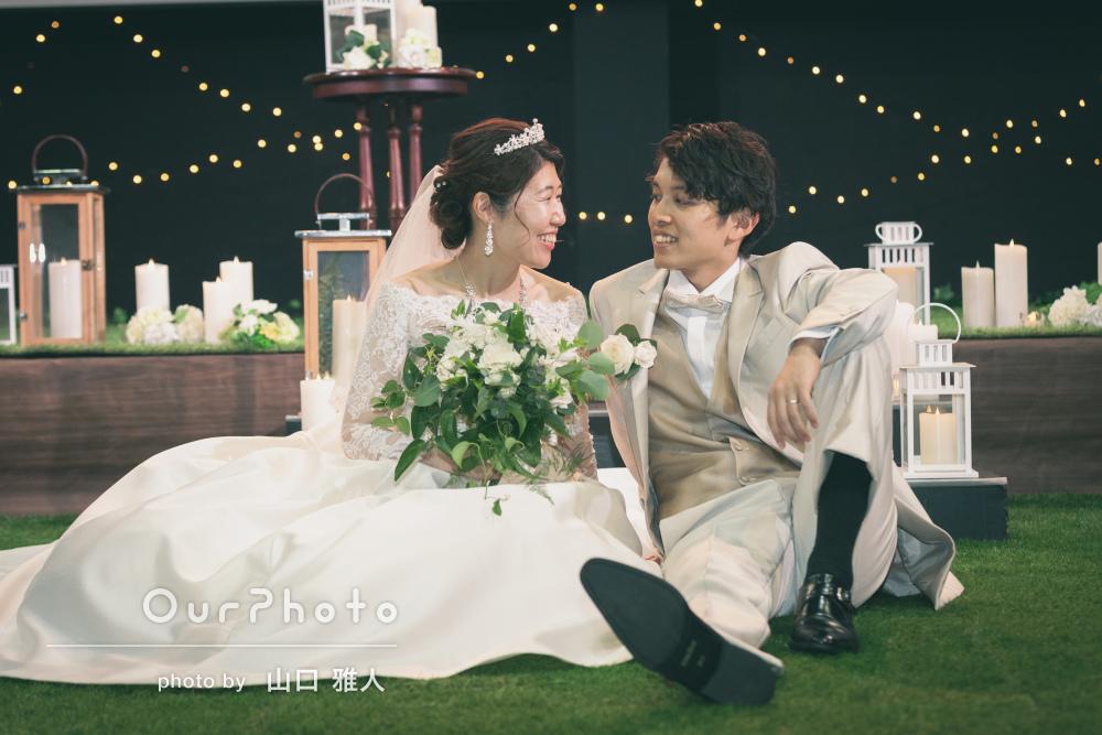 「一生の思い出に残る素晴らしい写真」結婚式当日のカップルフォトの撮影