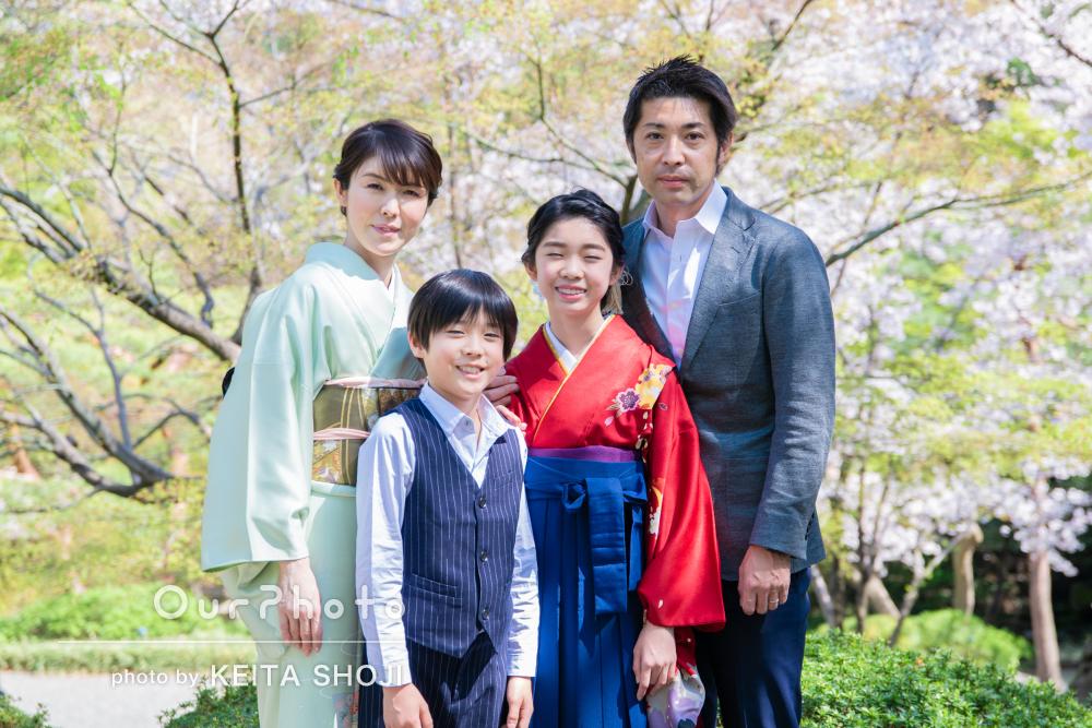 「すごく楽しく良い時間になりました」小学校卒業記念に家族写真の撮影