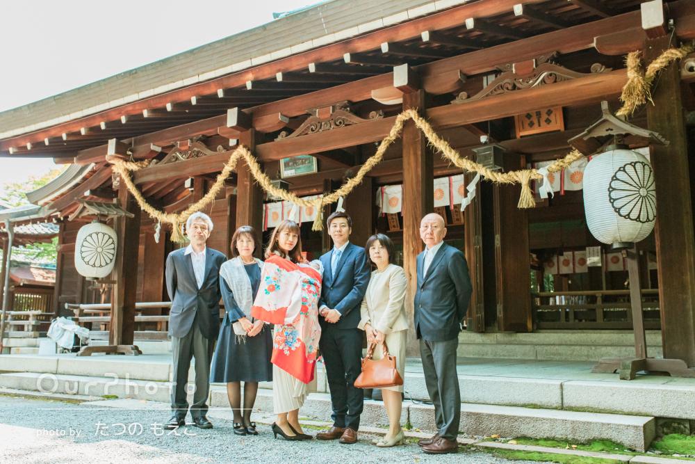 「とても素敵な写真ばかり」新緑が美しい神宮で3世代のお宮参りの撮影