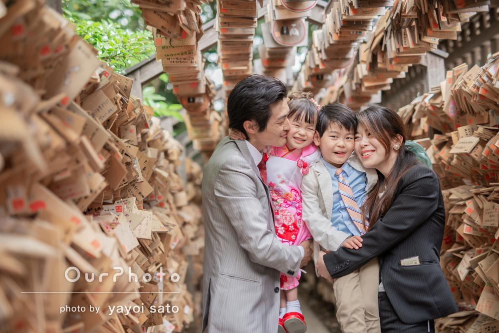 「終始和やかで子供達の可愛いを引き出して頂き」神社で七五三の撮影