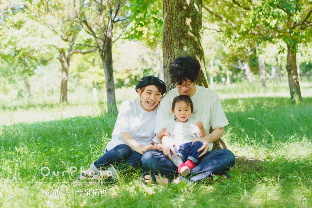 「とてもいい感じで大満足です!」マタニティフォトと家族写真の撮影