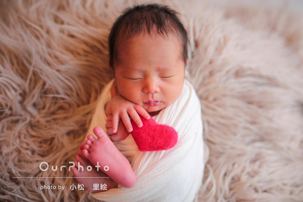 「赤ちゃんの扱い方等、慣れており安心しました」ニューボーンフォト撮影