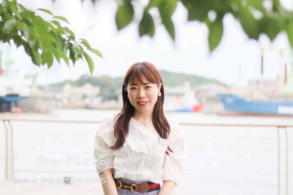 色々な背景とポージングでかわいらしい女性プロフィール写真の撮影