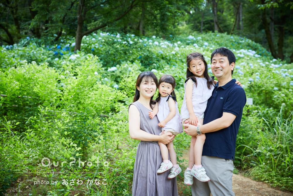 「自然な表情、笑顔をたくさん撮っていただいて」家族写真の撮影