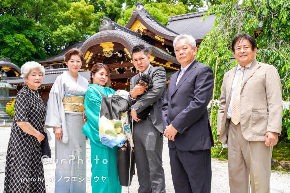 「とても良い写真ばかりで満足です」祖父母も駆けつけてお宮参りの撮影