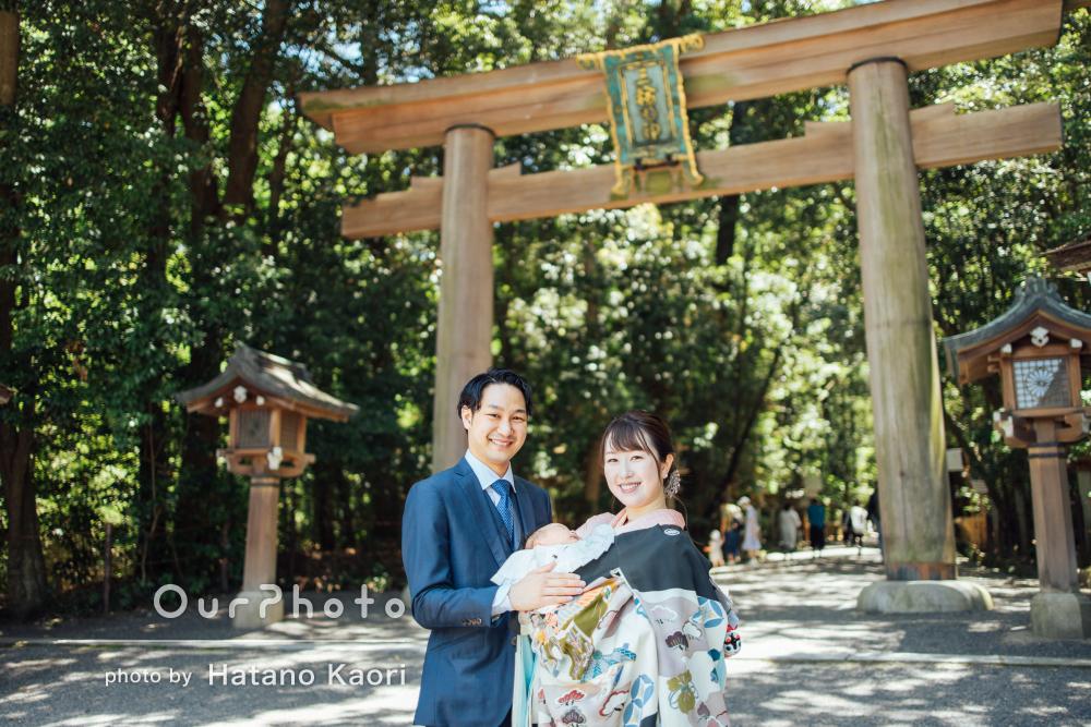 「臨機応変に対応してくださり」新緑きらめく神社でお宮参りの撮影