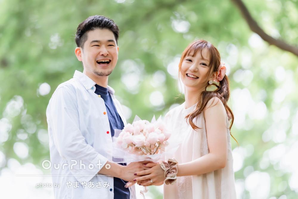 「素敵な写真になりました」初夏の爽やかな雰囲気でカップルフォトの撮影
