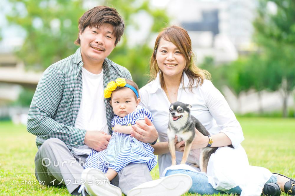 「とてもいい記念になりました!」1際の誕生日記念に家族写真の撮影