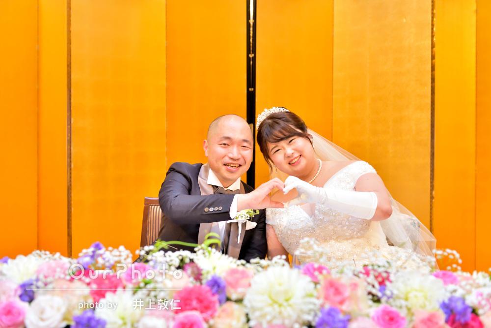 「披露宴で素晴らしい写真を」幸せあふれるカップルフォトの撮影