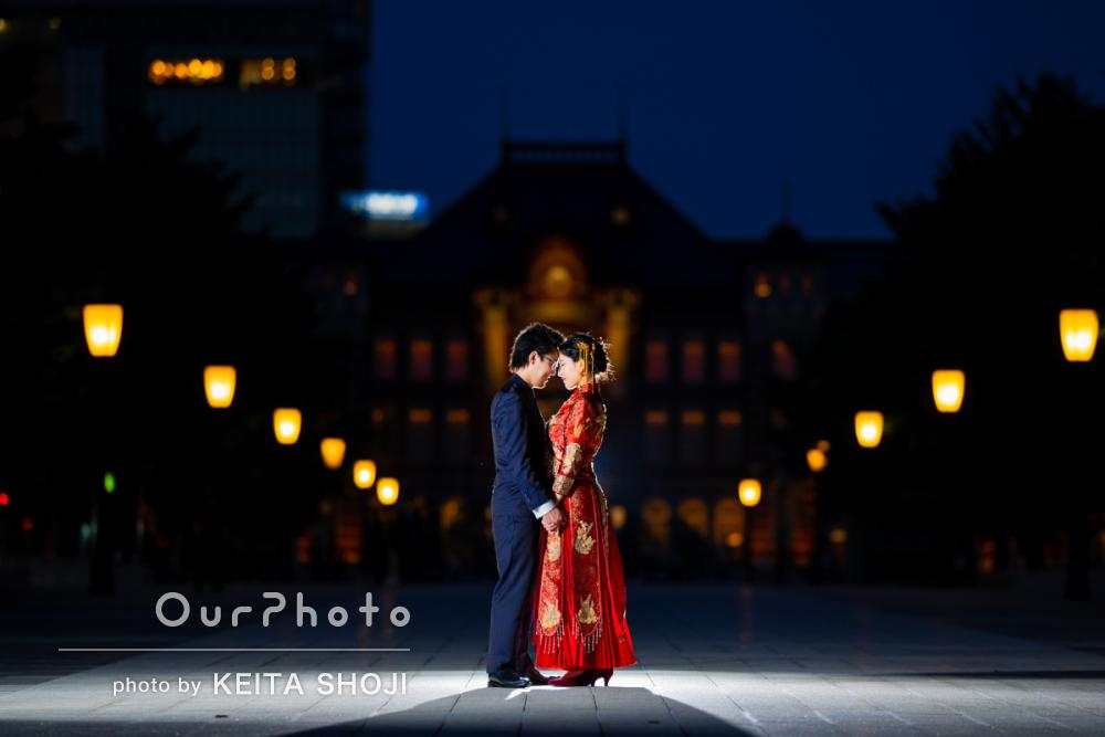 「光の使い方がすごく上手い」中国式の結婚衣装で街中フォトウェディング