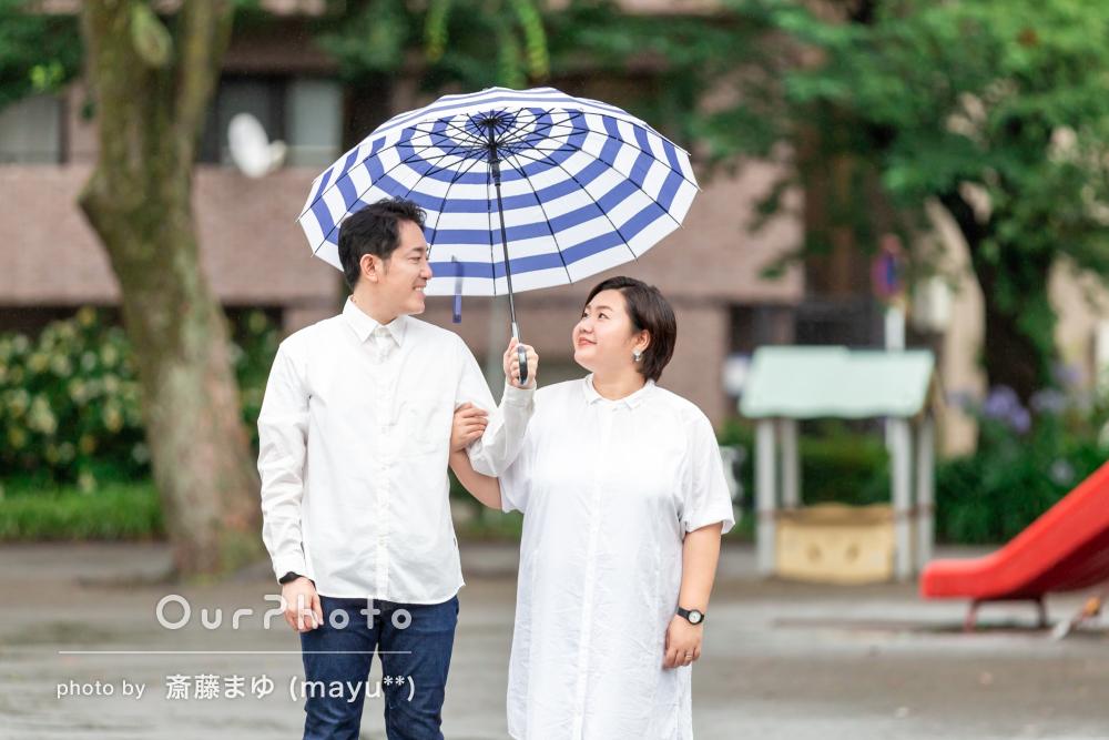 「当日の楽しさが伝わってくる写真で大満足」雨の日のカップルフォト撮影
