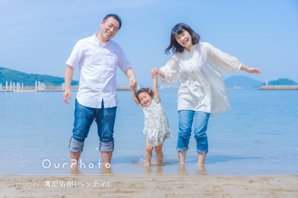 「楽しく撮影できました」女の子の2歳の誕生日記念に家族写真の撮影