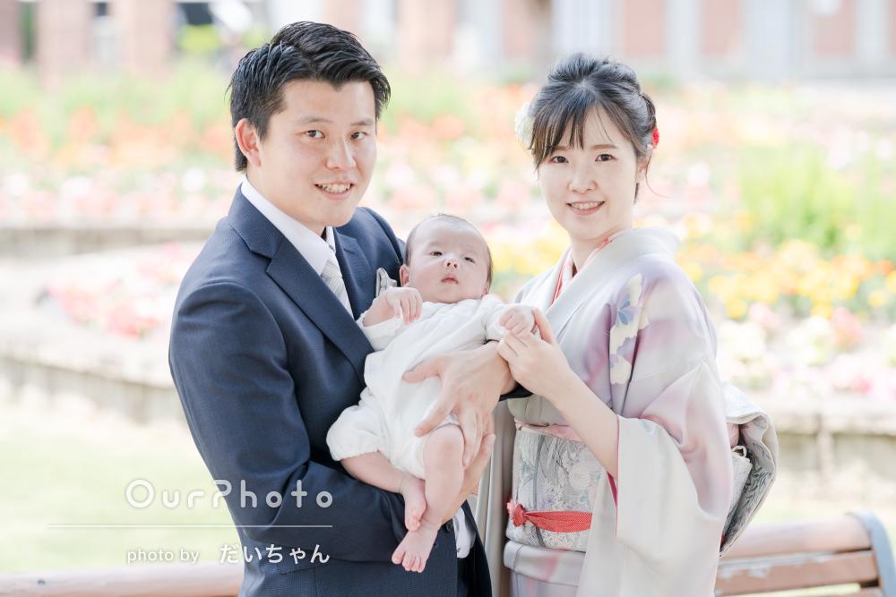赤ちゃんの健やかな成長を願う幸せと喜びにあふれたお宮参りの撮影