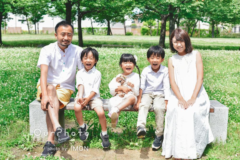 「子供たちが揃って笑顔の写真がたくさん」3兄妹マタニティフォトの撮影