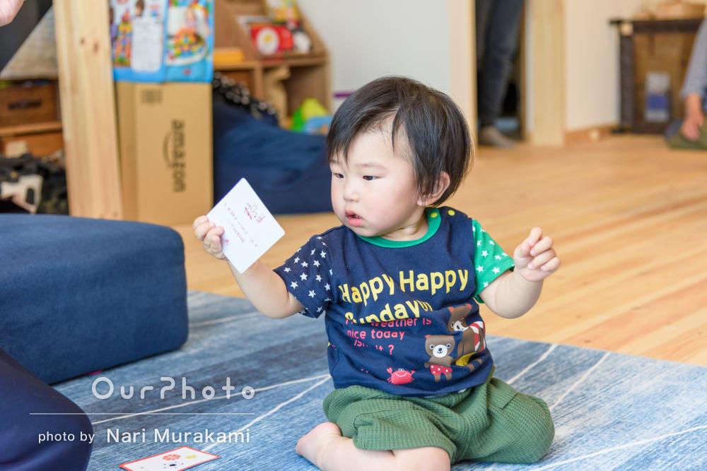 「記念になる写真」背負い餅でお誕生日のお祝い!家族写真の撮影