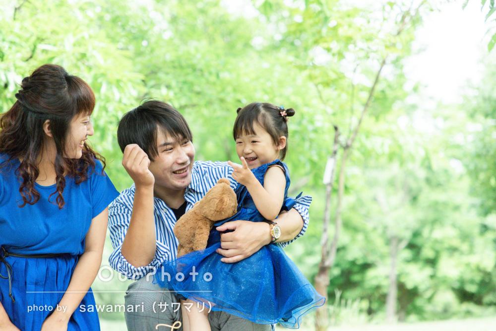 「とても良い写真が撮れました!」親子おそろいのドレスで家族写真の撮影