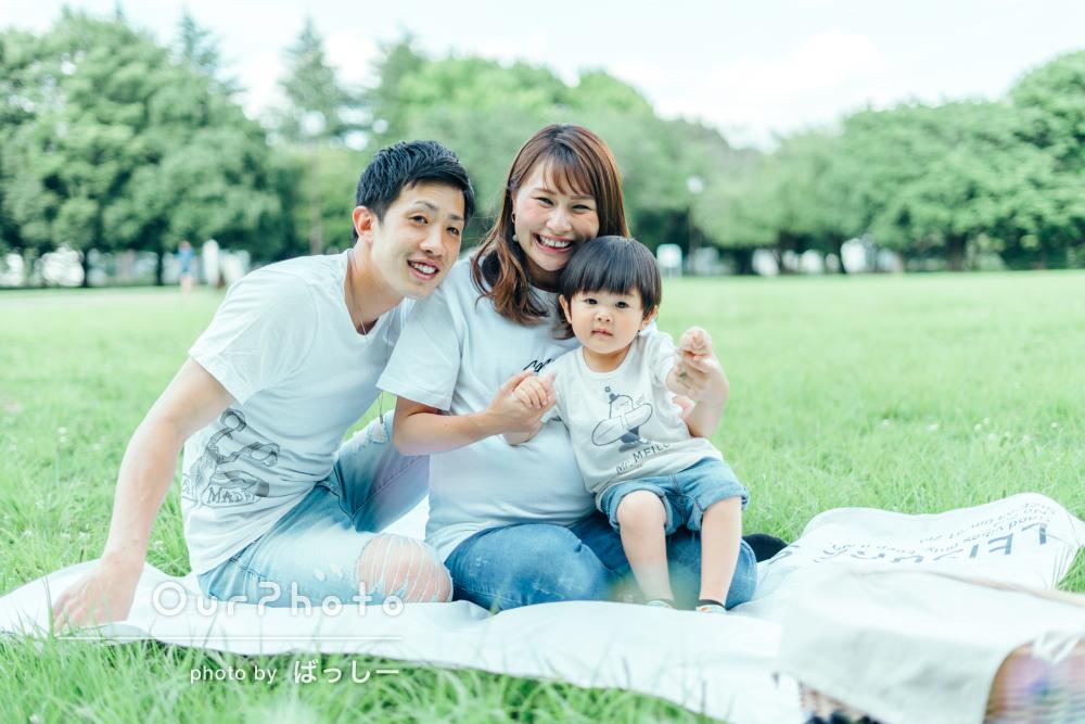 「とっても良い写真が多くて嬉しかった」リンクコーデで家族写真の撮影