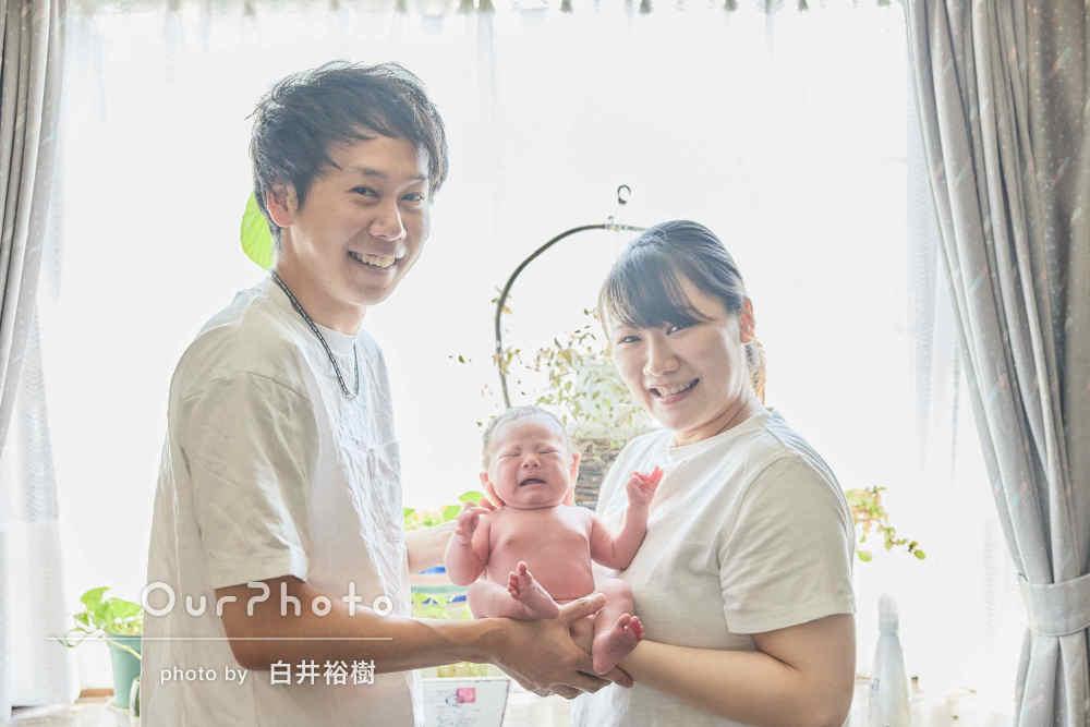 「すごく満足しました」パパとママの笑顔溢れるニューボーンフォト撮影