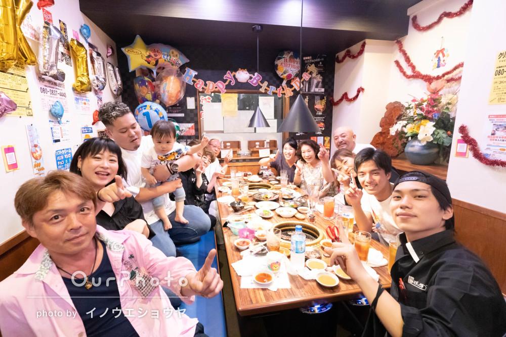 「いい写真をいっぱい撮って下さり本当に満足」誕生日会の家族写真の撮影