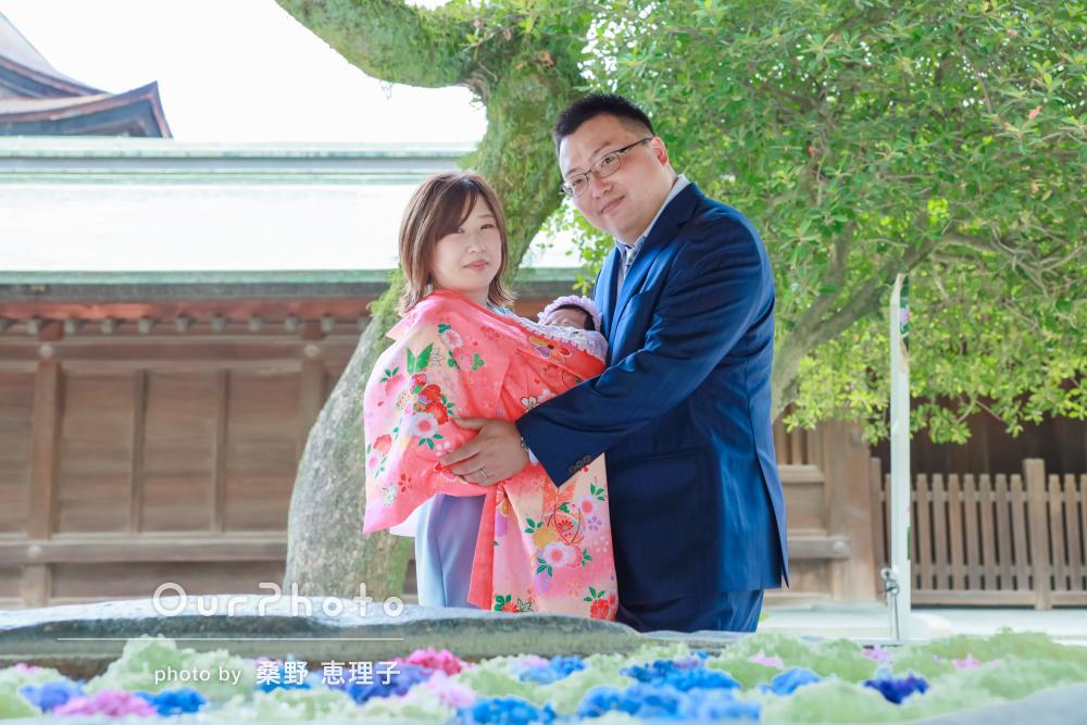 「とても綺麗に撮っていただき嬉しかった」神社でお宮参りの撮影