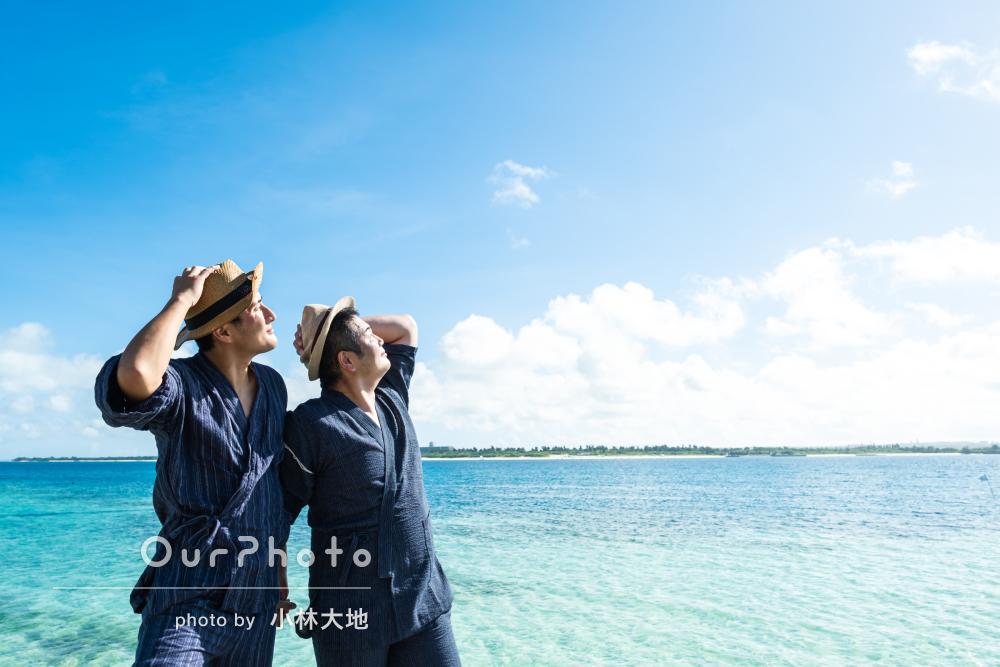 「本当に忘れられない思い出」夏の海で楽し気なカップルフォトの撮影
