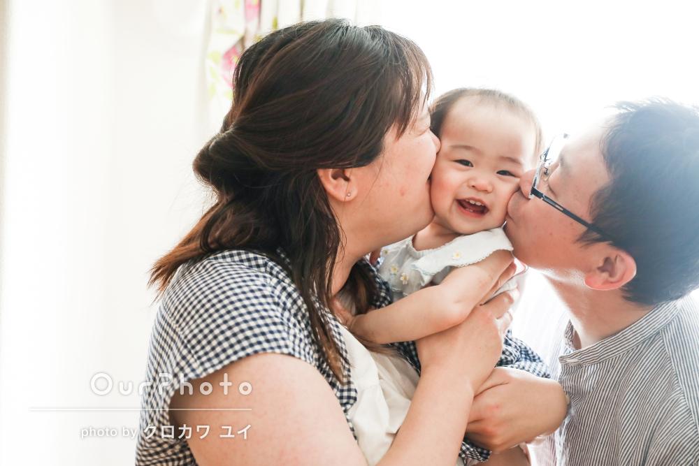「安心して撮影をお任せできました」1歳の誕生日記念に家族写真の撮影