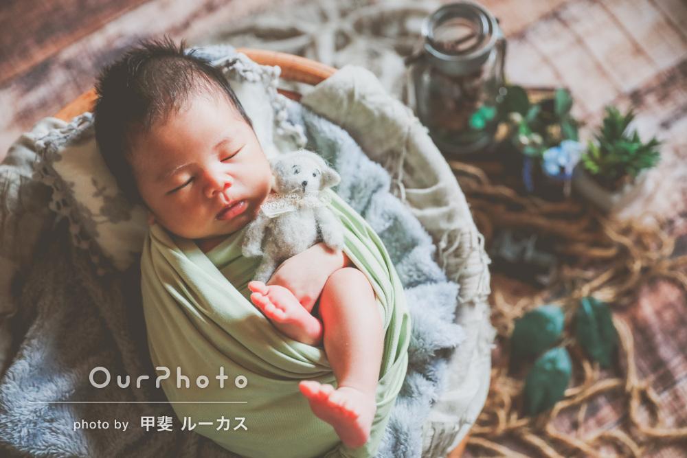 「赤ちゃんの対応がとっても親切」ご自宅でニューボーンフォトの撮影