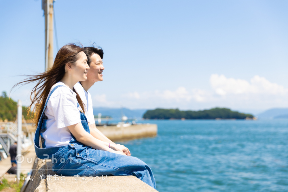 「貴重な経験、思い出になりました」海辺で愛車とカップルフォトの撮影