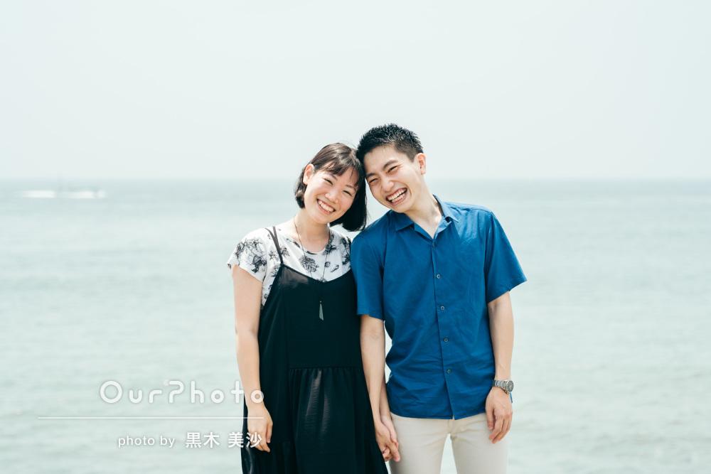 「自然と笑みが溢れるような楽しい撮影」結婚記念にカップルフォトの撮影