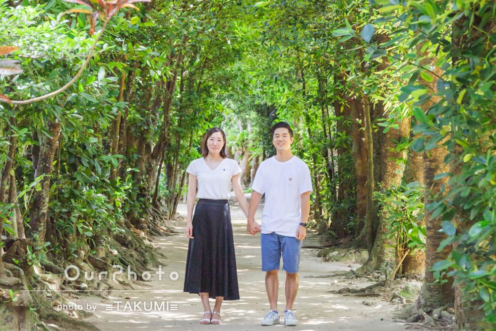 「楽しく撮影をおえることができました」沖縄の森林でカップルフォト撮影