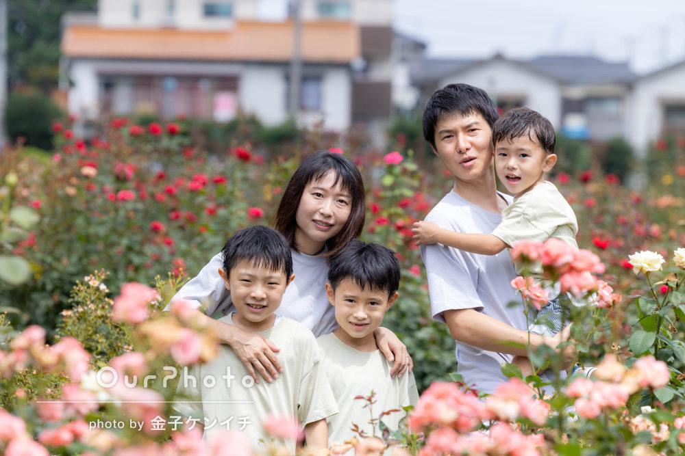 「優しく対応してくださり自然な写真」結婚記念日に家族写真の撮影
