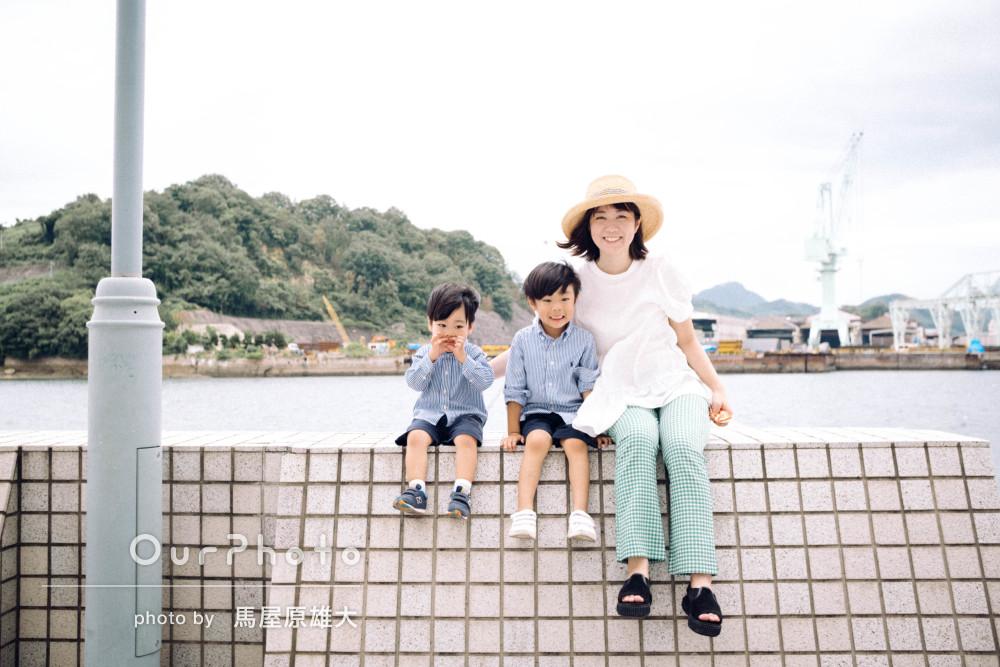 「最初は緊張していた子どももすぐに打ち解け」自然体な家族写真の撮影