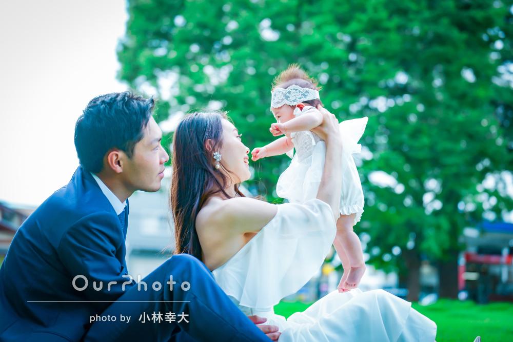 「とても楽しいお時間でした」ドレスアップ姿が美しい家族写真の撮影