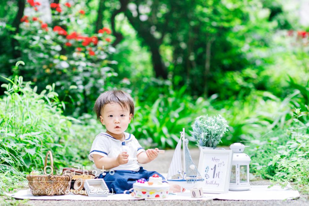 「素敵な写真を撮って頂けました」1歳の記念にバースデーフォトの撮影