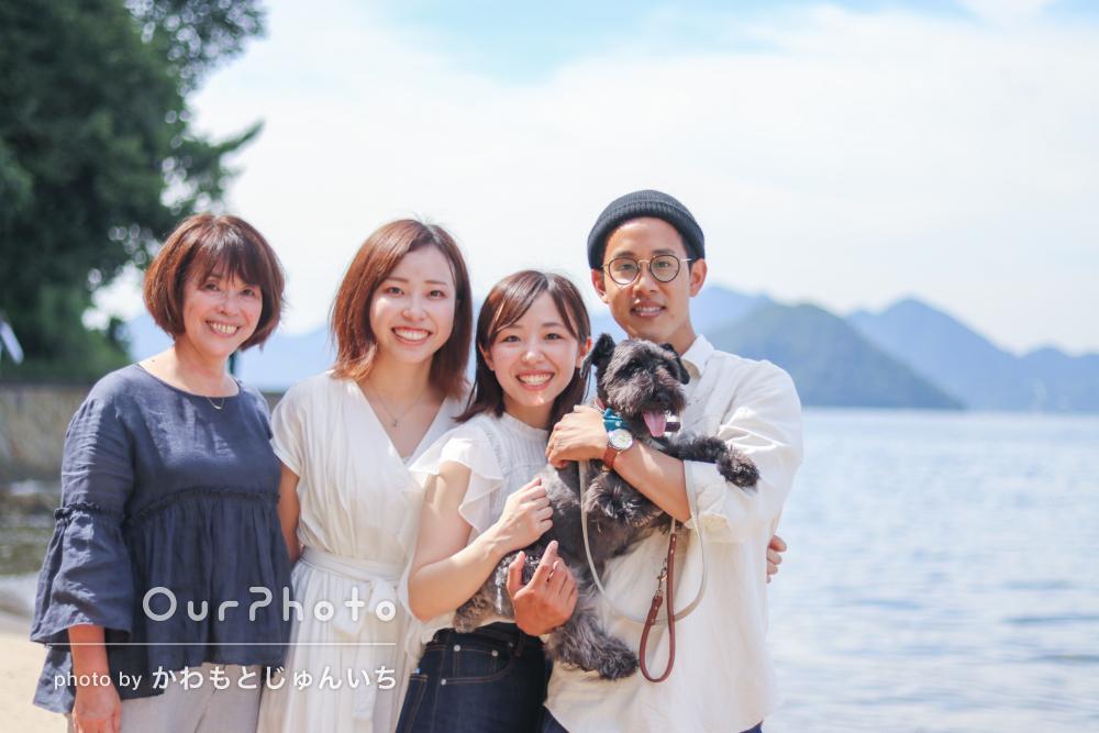「臨機応変に対応してくださり本当にありがたかった」家族写真の撮影