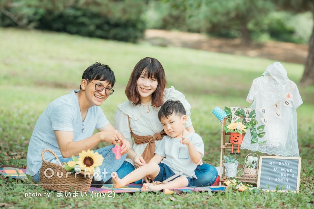 「安心して撮影ができました」マタニティフォトと家族写真の撮影