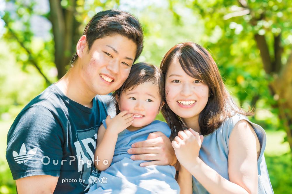 「娘も人見知りせず楽しめてました」家族写真とマタニティフォトの撮影