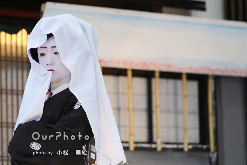 「子ども歌舞伎の舞台に出演するお子様を撮影してほしい」イベントの撮影
